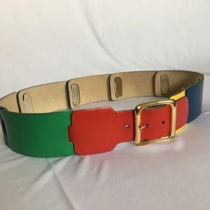 Vintage Calderon Colorblock Leather Belt